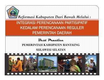 3. Presentasi kab Bantaeng final - psflibrary.org