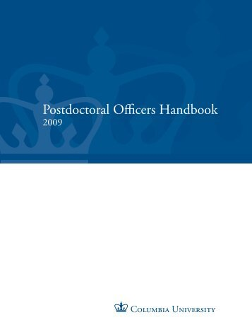 Postdoctoral Officers Handbook - Office of Postdoctoral Affairs