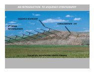 AN INTRODUCTION TO SEQUENCE STRATIGRAPHY