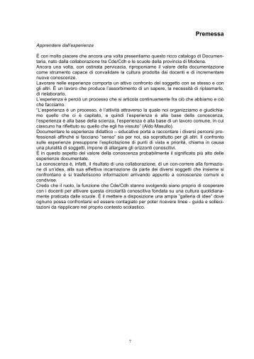 Premessa - Comune di Modena