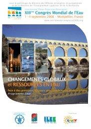 Programme final du congrès - IWRA