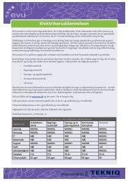 Beskrivelse af elektrikeruddannelsen - EVU