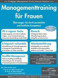 Managementtraining für Frauen - Grow.up. Managementberatung ...