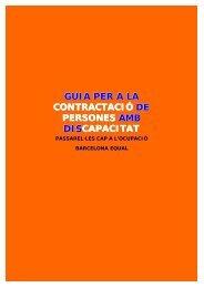 Guia per a la contractació de persones amb ... - Barcelona Activa