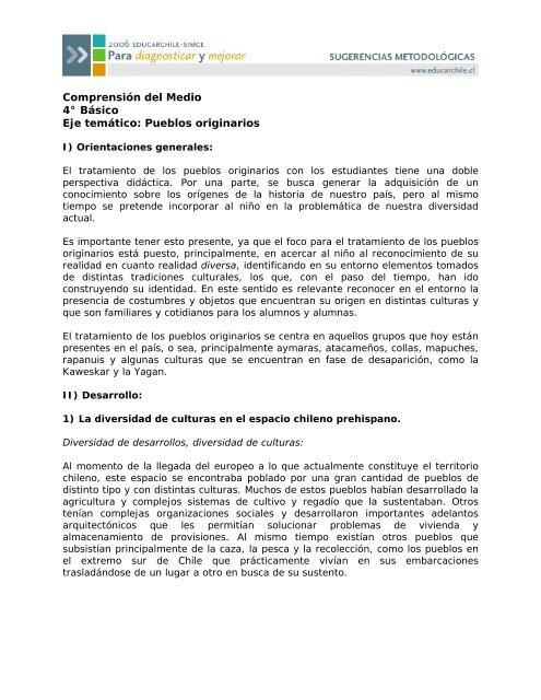 Pueblos Originarios Educarchile Altavoz