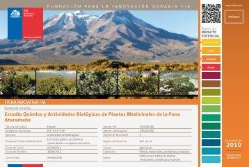 Estudio Químico y Actividades Biológicas de Plantas ... - Fia