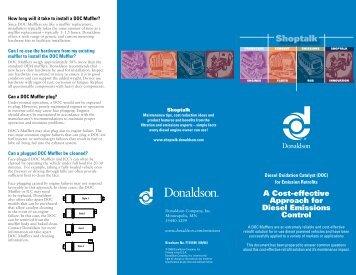 Shoptalk -Donaldson DOC Mufflers - Donaldson Company, Inc.