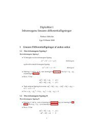 DiploMat 1 Inhomogene lineære differentialligninger