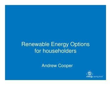 Renewable Energy Options for householders - eco-fair