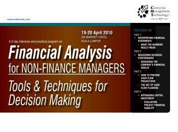 tools & techniques for Decision Making - CMT Conferences