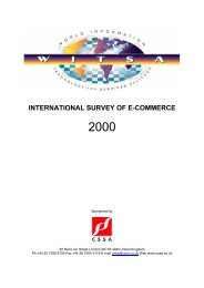 International Survey of E-Commerce - WITSA