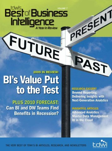 TDWI's Best of Business Intelligence, Vol. 6 - 1105 Media