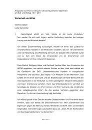 Prof. Dr. Jürgen Strube Ansprache zum Buß - Christuskirche