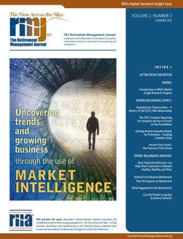 RIIA Retirement Management Journal - Strategic Business Insights