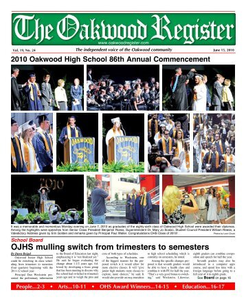 OJHS mulling switch from trimesters to semesters - the Oakwood ...