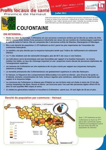 COLFONTAINE - La Province de Hainaut