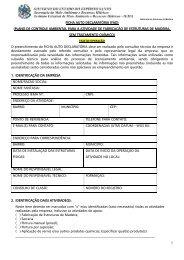 Ficha Autodeclaratória - Instituto Estadual de Meio Ambiente