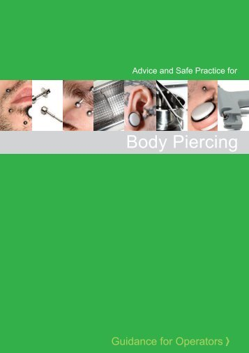 Body Piercing Advice and Safe Practice - Charnwood Borough ...