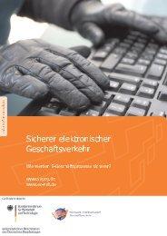 Sicherer elektronischer Geschäftsverkehr - eBusiness Lotse Berlin