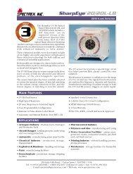 20/20L (LB) - UV/IR Flame Detector - Spectrex Inc.