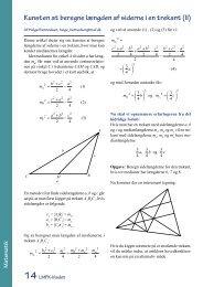 Kunsten at beregne længden af siderne i en trekant (II) - LMFK
