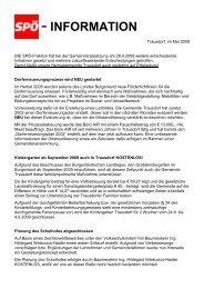 - INFORMATION - bei der SPÖ Trausdorf