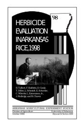 HERBICIDE EVALUATION IN ARKANSAS RICE, 1998 - Agricultural ...