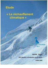 Etude « Le réchauffement climatique » - Mountain Riders
