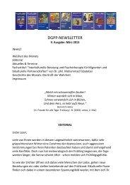 Newsletter 9, März 2013 - Positive und Transkulturelle Psychotherapie