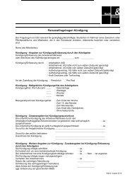 Personalfragebogen Kündigung