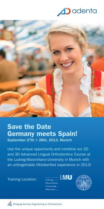 Save the Date Germany meets Spain! - Adenta