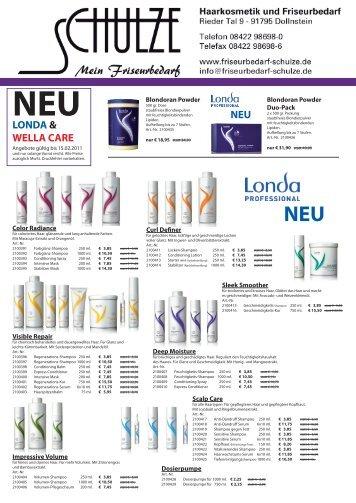 LONDA & WELLA CARE NEU - Mein Friseurbedarf Schulze
