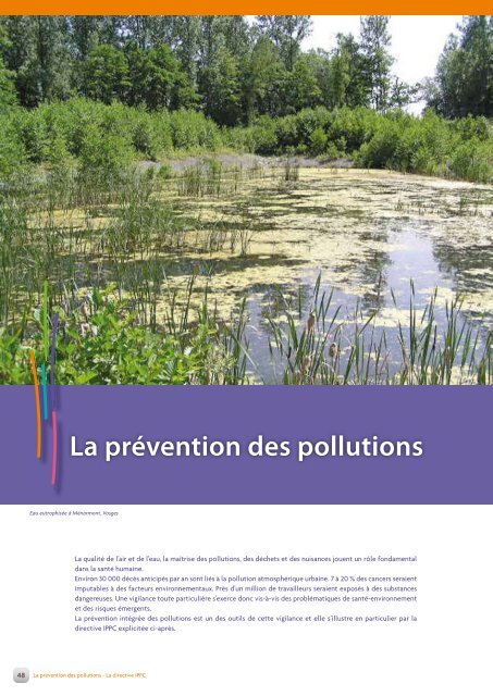 La prévention des pollutions