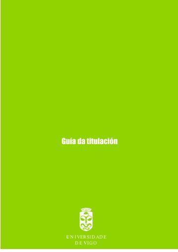 Guía da titulación - Universidade da Coruña