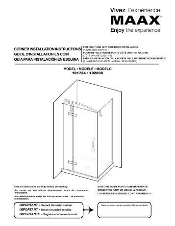 Corner installation instruCtions Guide d installation en Coin     MaaxImportant  The therapeuti. Maax Avenue Bathtub Installation Instructions. Home Design Ideas
