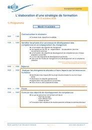 L'élaboration d'une stratégie de formation - Esen - Ministère de l ...