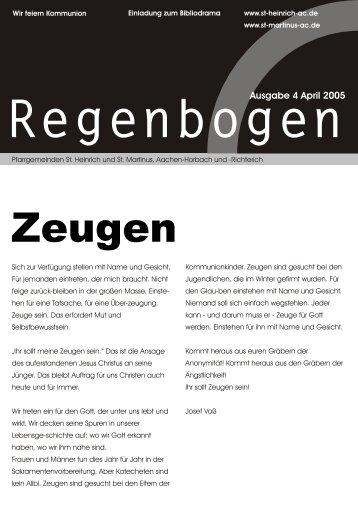 Ausgabe 4 April 2005 - St. Heinrich