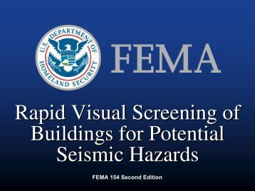 Rapid Visual Screening of Buildings for Seismic Hazards