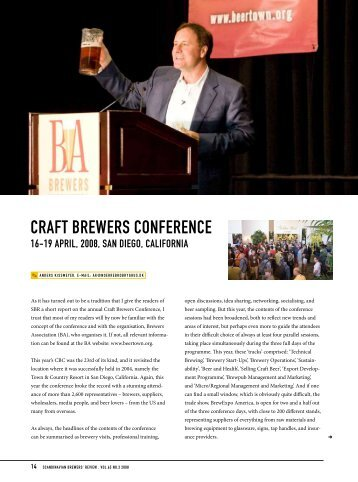 Craft Brewers Conference 2008 - Scandbrewrev.dk