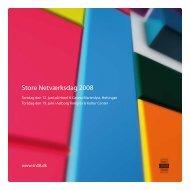 Store Netværksdag 2008 - Byens Netværk
