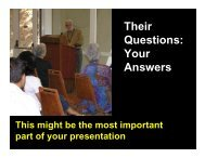 Their Questions: Your Answers