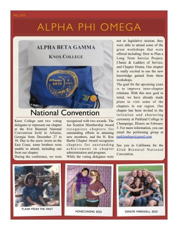 ALPHA PHI OMEGA - Knox College