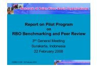 Report on Pilot Program RBO Benchmarking and Peer Review - INBO