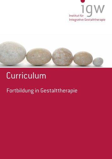 Curriculum Ausbildungsstart Herbst 2012 - IGW Institut für ...