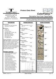 Torginol - ColorFlakes - Product Data Sheet (2011)