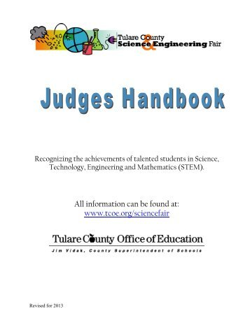 TULARE COUNTY SCIENCE & ENGINEERING FAIR JUDGES ...
