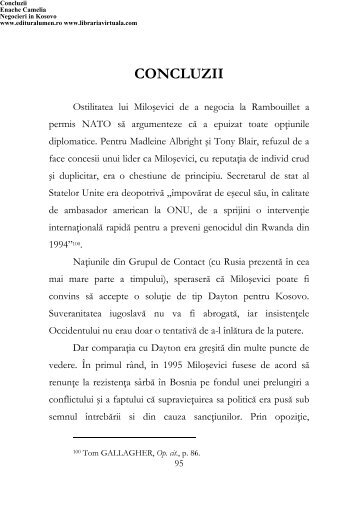 Concluzii - Editura Lumen