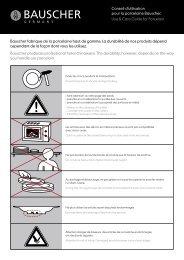 Gebrauchsempfehlung für Porzellan. Use & Care Guide for - Bauscher