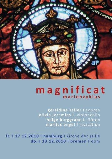 magnificat - Helge Burggrabe