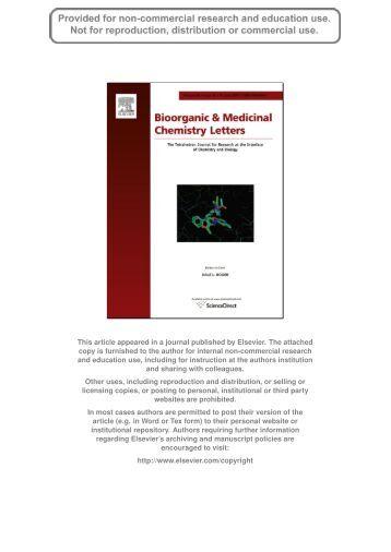 Synthesis and evaluation of novel a-amino cyclic boronates ... - Anacor